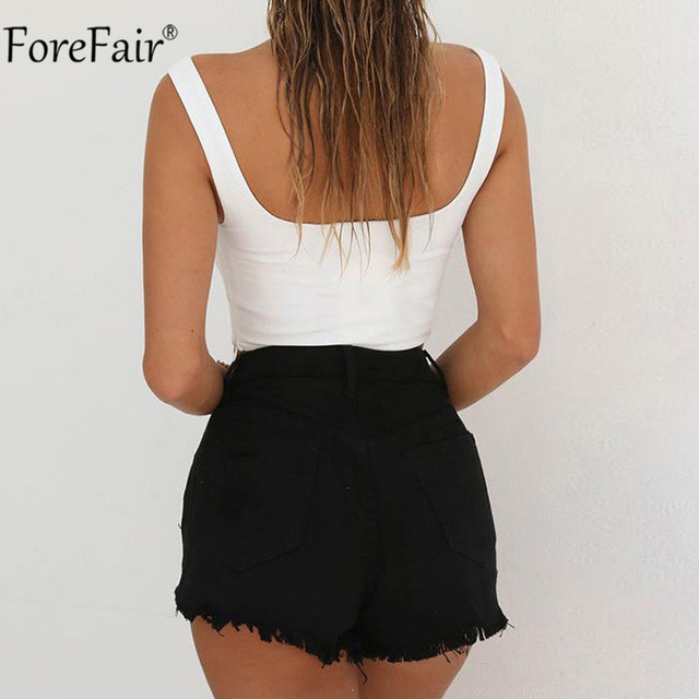 Forefair V Neck Sleeveless Sexy Bodysuit  4