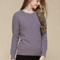 100% козья кашемир ананас зерна вязать Женская мода Oneck пуловер свитер темно синий 5 видов цветов S 2XL