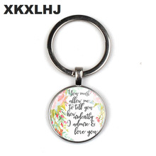 HOT! Bible Quote Keychain If God is for Us who can be against us Verse Christian Nursery Jewelry Women Men Gifts hot new romans 8 31 bible quote keychain if god is for us who can be against us verse christian nursery jewelry women men gifts