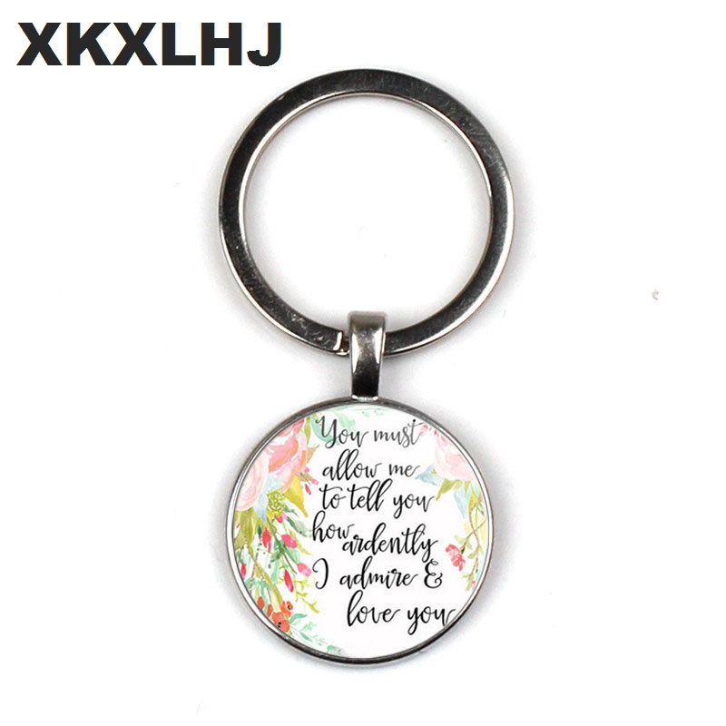 HOT! Bible Quote Keychain If God is for Us who can be against us Verse Christian Nursery Jewelry Women Men Gifts image