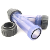 50mm Y Type Transparent Filter Irrigation System Pump Protection Pipe Filter Fish Tank Aquarium Visible PVC Pipeline Filters