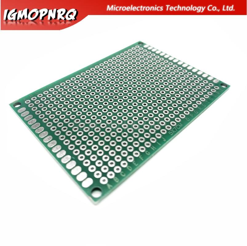 10Pcs Double-Side Prototype Solderable Paper Universal PCB Board 6cmx8cm