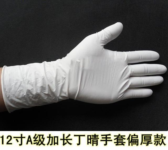 Специальное предложение 12 дюймов толщиной и прочный удлиняется каучук nbr маслостойкий нитриловые резиновые перчатки труда