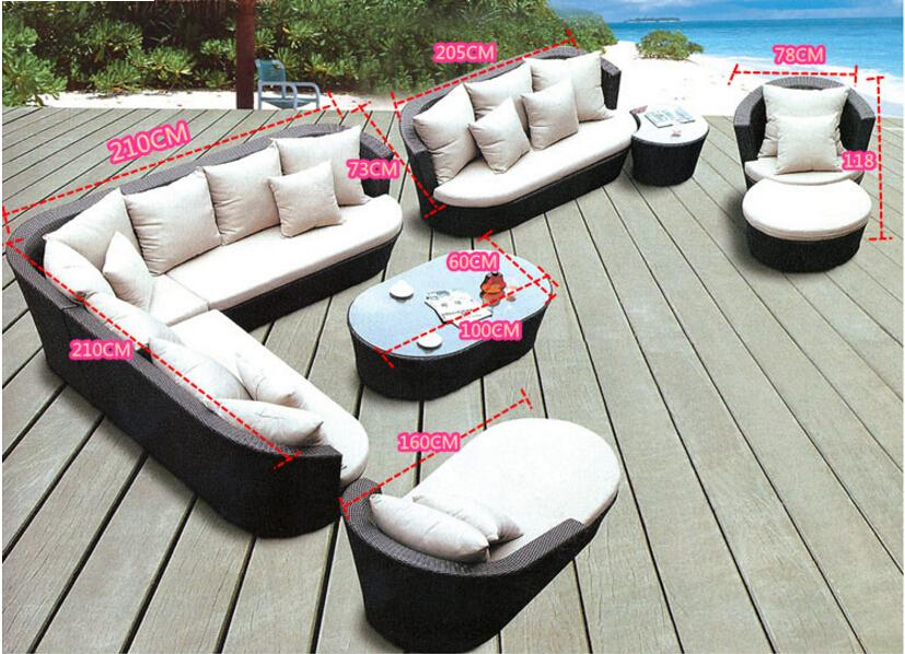 Large Outdoor Garden Furniture Protective Cover For Corner Sofa Strong