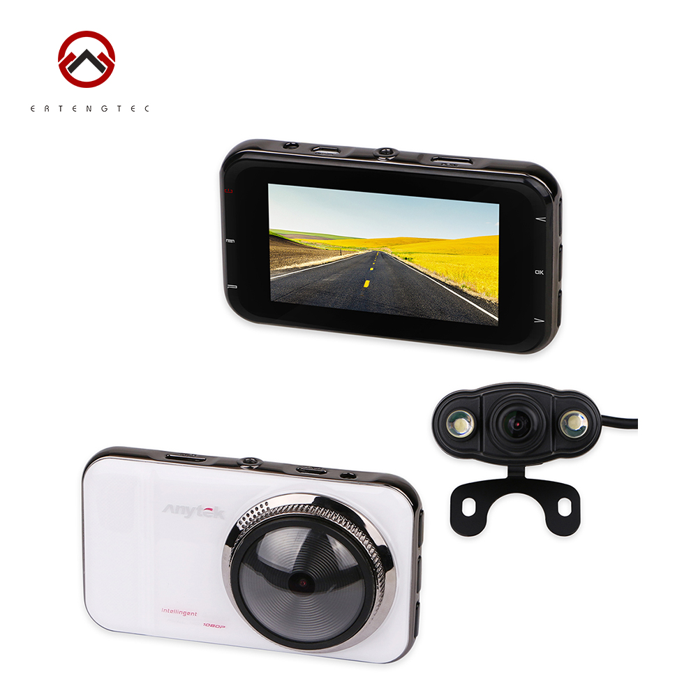 Anytek A1H Car DVR Dash Cam Video Recorder Novatek 96655 Car DVR Dual Lens Full HD 1080P 170 degree WDR 3 Screen HDMI DVR junsun car dvr camera video recorder wifi app manipulation full hd 1080p novatek 96655 imx 322 dash cam registrator black box