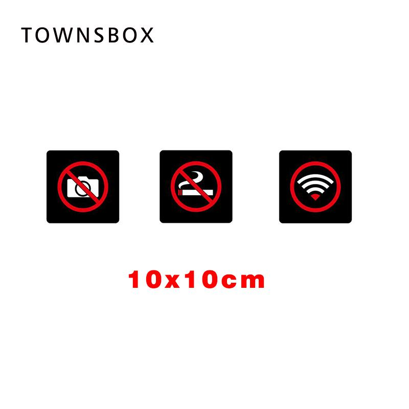3D No Smoking Signage Plate Sticky Wall Sticker No Smoking Icon Tag No Photographing Picture Taking Prohibited Wifi Sign Board signage