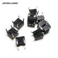 JOYING LIANG 10 pz/lotto 6*6*4.3 Micro Quadrato Interruttori A Pulsante Nero Piede Di Rame 6x6x4.3 Toy Interruttore