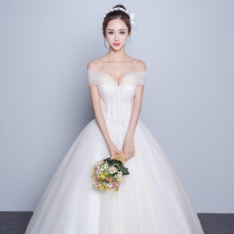 Slit Neckline Bride Wedding Dress Formal Dress Tube Top