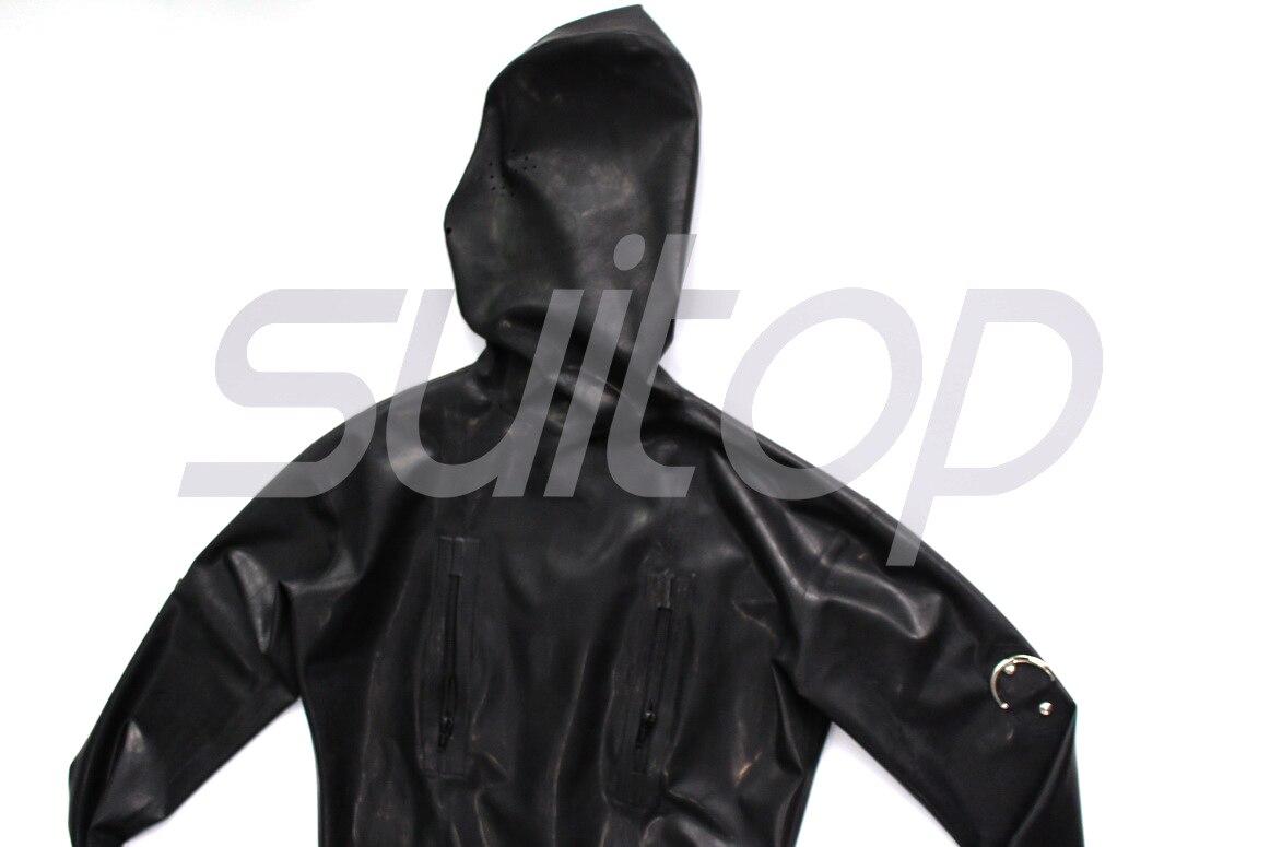 Suitop rubber latex catsuit full cover bodysuit for men