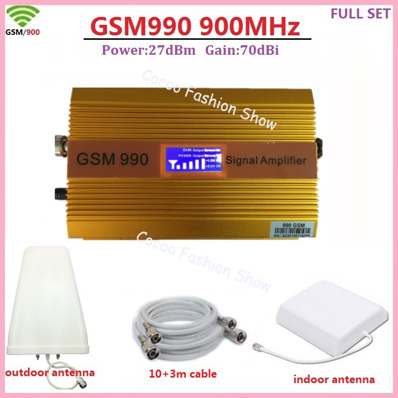 LCD Display ! High Gain 70dB 2G GSM 900MHz Mobile Phone Signal Booster GSM Celular Cell Phone Signal Repeater Amplifier Full SetLCD Display ! High Gain 70dB 2G GSM 900MHz Mobile Phone Signal Booster GSM Celular Cell Phone Signal Repeater Amplifier Full Set