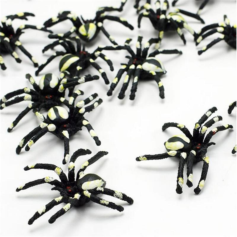 Novelty & Gag Toys 20pcs/set Lifelike Simulation Spider Animals Action Figure Toy Funny Practical Jokes Toys Wacky Toy Toys & Hobbies