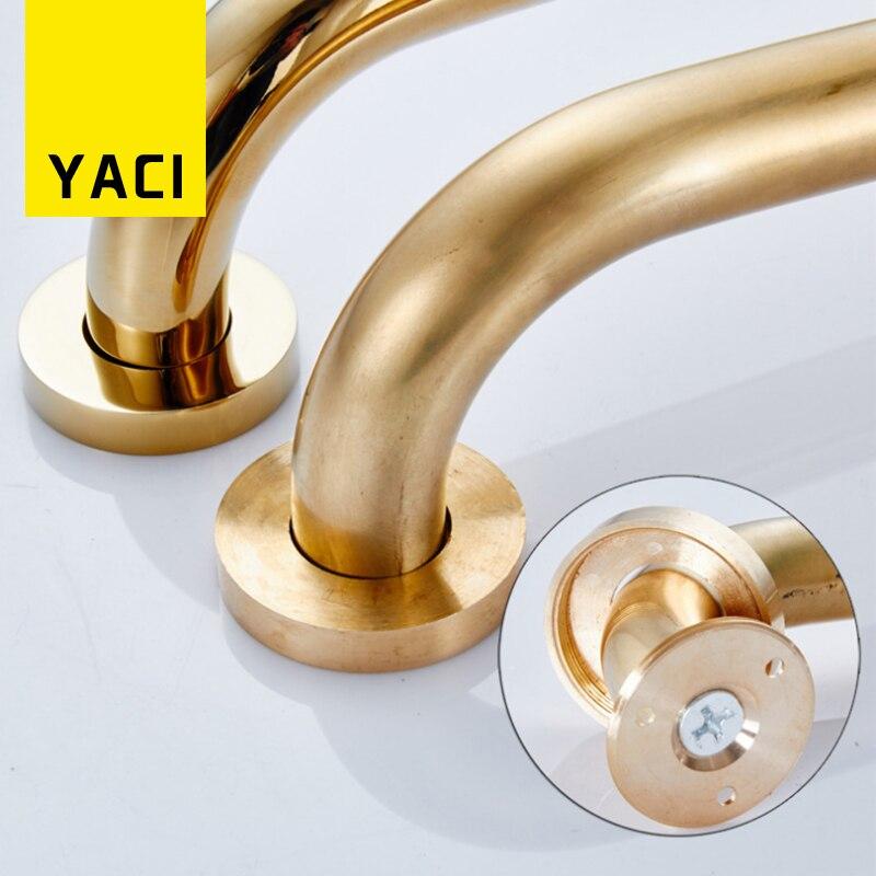 YACI Grab Bar Solid Brass Bathroom Safety Handles Tub Safety Luxury ...