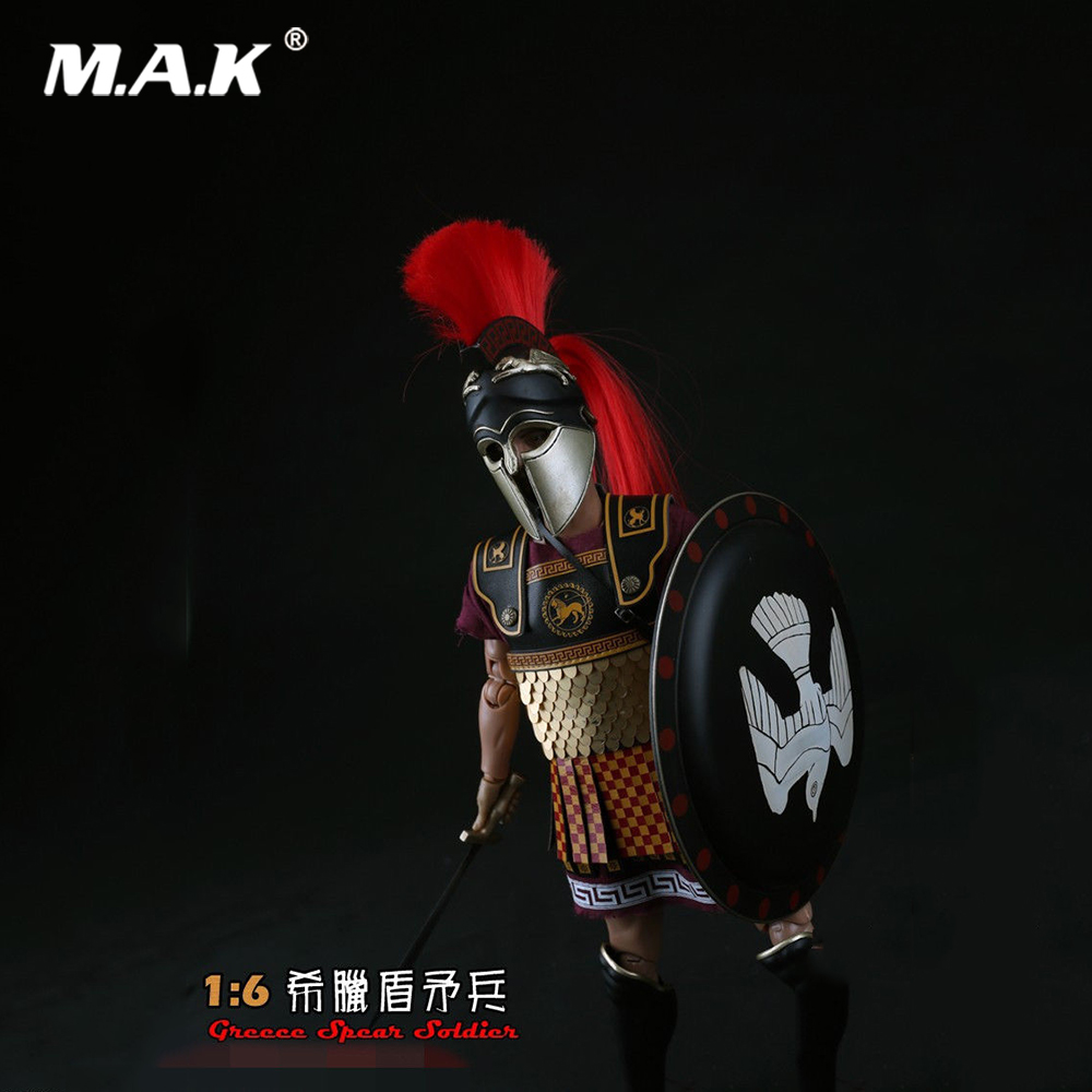 ZH008 Collections 1:6 Greece Shield Spearmen Soldier Action Figure Model Toys Teutonic Knights Medieval Knight Figure Model