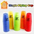 Minitudou Magia Voando Copos 12-Cup Conjunto Esporte de Empilhamento Jogo Prop Aprendendo Brinquedos Educativos