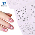 24 Pcs/Pack Silver Design Nail Stickers Water Transfer Sticker Nail Art 3D Nails Decals Fashion DIY Nail Tips Decoration