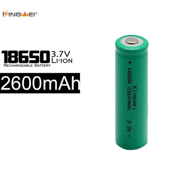 100% Original KingWeo 100Pcs/lot 18650 2600mah Lithium Battery Green 3.7v Rechargeable Li Ion Batteries
