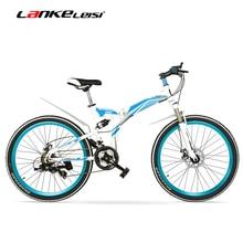 K660M 24/26 inch Folding MTB Bike,21 Speed folding bicycle,Lockable Fork,Front & Rear Suspension,Both Disc Brake, Mountain Bike