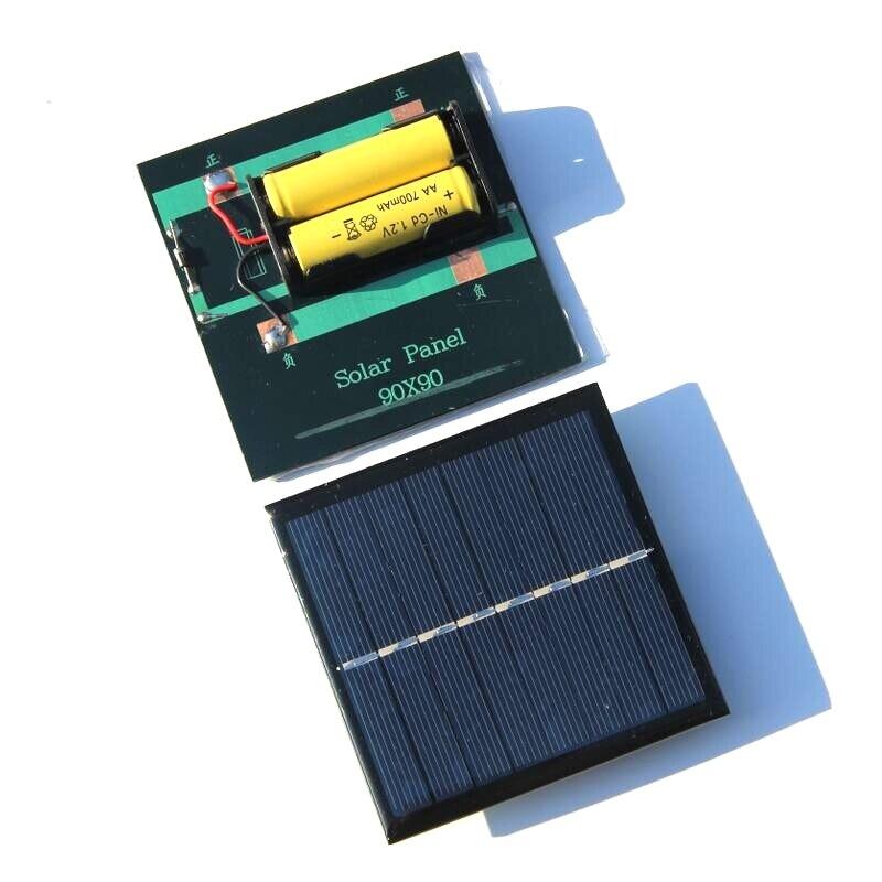 1 Вт 4 в перезаряжаемая батарея аа солнечное зарядное устройство с базой для 2xAA батареи зарядки непосредственно