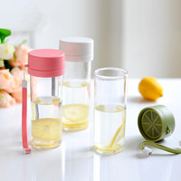480ml Summer Portable Bottles Creative Lemon Plastic Kettle Health Environmental Protection Materials Summer Portable Bottle