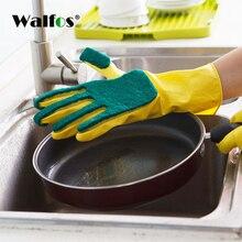 WALFOS Creative Washing Cleaning Gloves Garden Kitchen Dish Sponge Fingers Rubber Household for Dishwashin