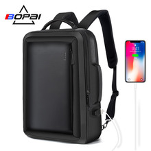 BOPAI mejor profesional hombres mochila de viaje resistente al agua Slim Laptop mochila bolso de escuela oficina de mochila bolso cuero