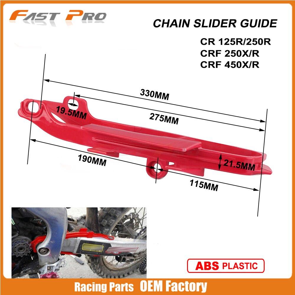 Hors Route Chaîne De Moto Curseur Guide Fourchette En Plastique De Protection Adhésif Pour HONDA CR125R CR250R CRF250R CRF250X CRF450R CRF450X