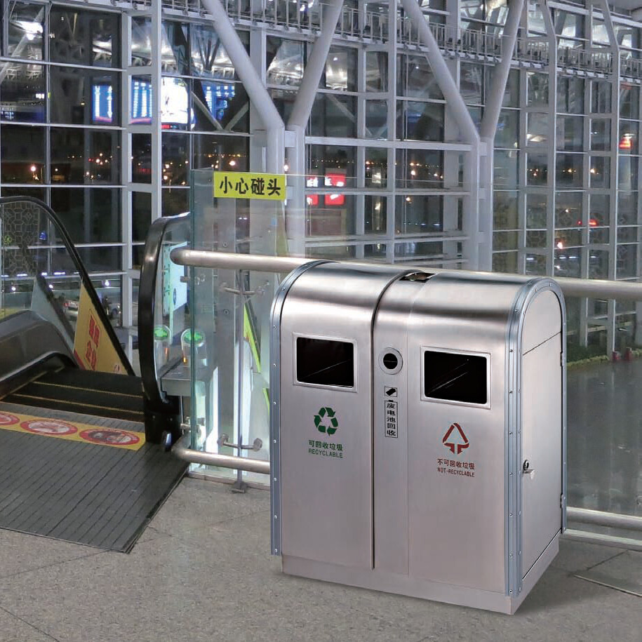 Sur de reciclaje de contenedores de basura mall exterior for Lista de precios subway