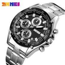 SKMEI 2020 New Fashion Quartz Watch Men Luxury Brand Full Stainless Steel Date Male Clock Men's Watches Relogio Masculino 1393 skmei luxury brand quartz watch men s gold casual business full stainless steel band men quartz watch fashion clock male 2017