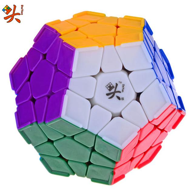 DaYan Megaminx Dodecahedron Cubo Mágico con La Esquina Ridges Velocidad Rompecabezas Game cube cubo mágico juguetes de aprendizaje y educación