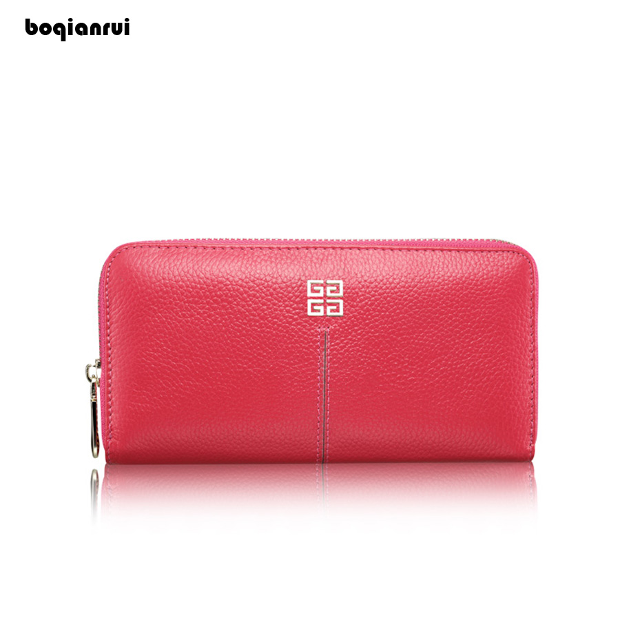 Women Wallet High Quality Genuine Leather Wallet Female Fashion Dollar Price Long Purse Card Holder Solid Zipper Standard Wallet contact s women wallets brand design high quality genuine leather wallet female hasp fashion dollar price long purse card holder