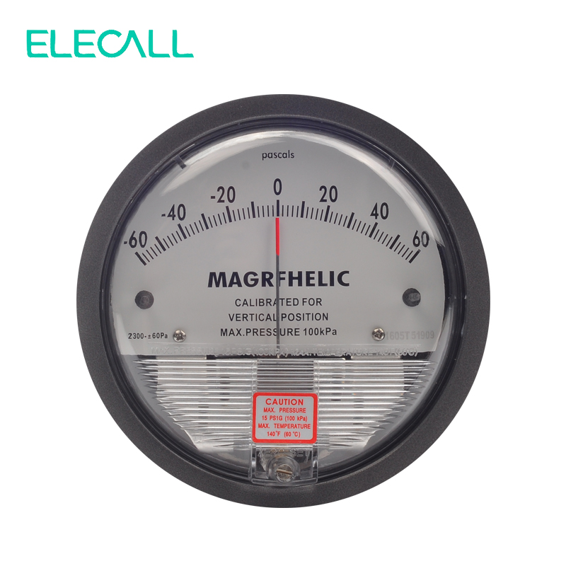 ELECALL New Arrial TE2000 -60~60PA Micro Differential Pressure Gauge High Precision 1/8