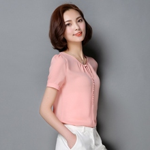 ROPALIA High Quality Women's Casual Solid Blouse Loose Offic