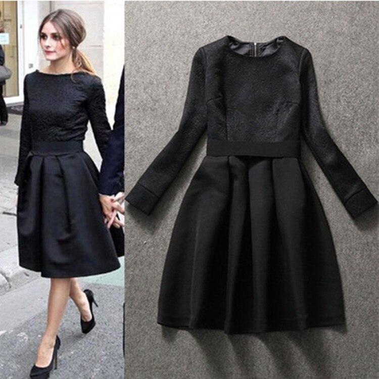 Ladies Black Formal Dress Olivia Palermo Same Style Party Runway