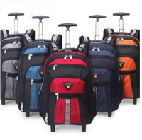 Men Nylon Travel trolley bag wheeled backpack women Business Rolling bag Travel trolley Rolling Luggage bag on wheels suitcase