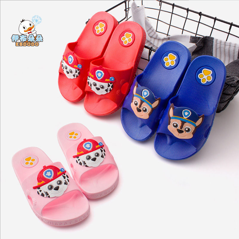 Ebdodo 2018 summer Children's slippers  cartoon babies  slippers lovely and Non-slip soft