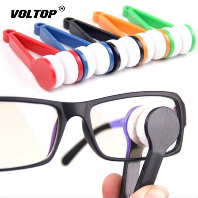 1 قطعة مكبرة النظارات حالة حامل ملحقات السيارات أدوات تنظيف النظارات المحمولة متعددة الوظائف مسح أداة