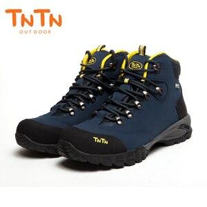 Image 4 - TNTN Botas de senderismo impermeables para hombre y mujer, zapatos de senderismo transpirables, botas de montaña