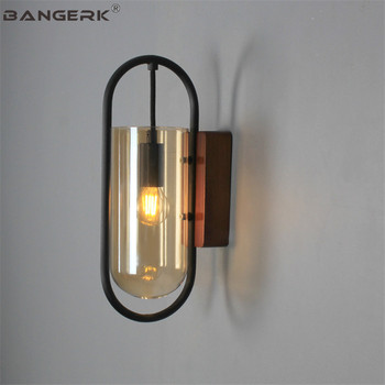 BANGERK Nordic Design Modern LED Wall Light Loft Glass Sconce Wall Lamps Bedside Aisle Restaurant Home Decor Indoor Lighting