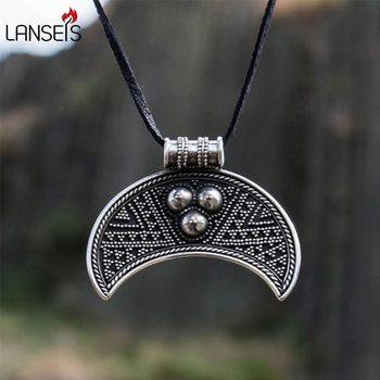Lanseis10pc Slavic Female amulet Pendant Slav Necklace Fertility Moon Crescent Pagan Viking Jewelry Medieval Dark Ages Pagan фото