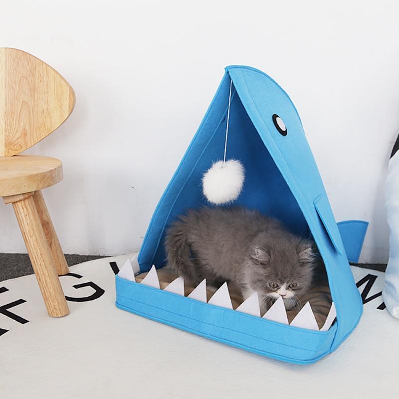 Aliexpress Com Buy Portable Dog Cat Pet Puppy Drinker: Shark Shape Pet House Felt Dog Cat Nest Portable Dog Beds