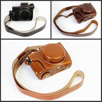 New Pu Leather Camera Case Cover Bag For Olympus OM D E M10 Mark II E