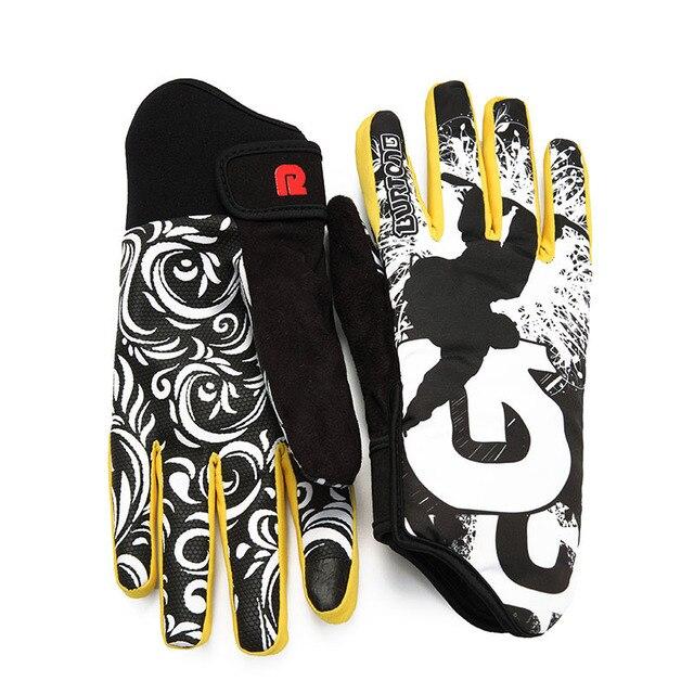 Профессиональные лыжные перчатки Для женщин Для мужчин нескользящим сноуборд перчатки Снегоход Мотоцикл езда Зимние перчатки ветрозащитный Водонепроницаемый