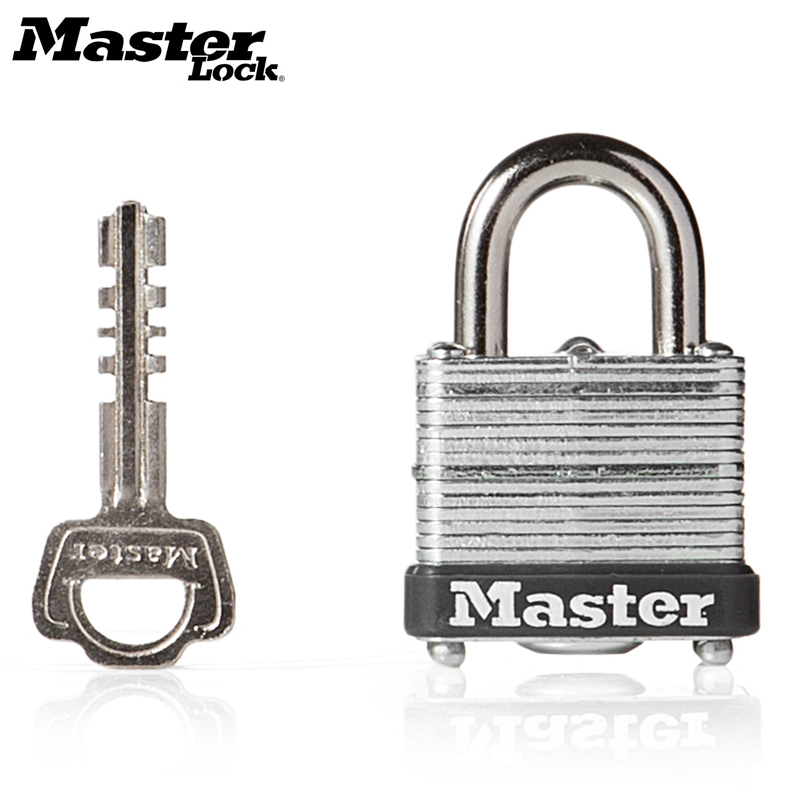 Master Lock Wide Laminated Steel Warded Padlock Anti-theft,Waterproof,No gallbladder layer home padlock dormitory outdoor lock waterproof anti rust padlock anti theft lock with keys for dormitory cabinet drawer warehouse iron gate
