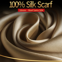 100% Real Silk Scarf Women Luxury Brand 2019 Hangzhou Silk Shawls Wraps for Ladies Solid Neckerchief Natural Silk Scarf Foulard
