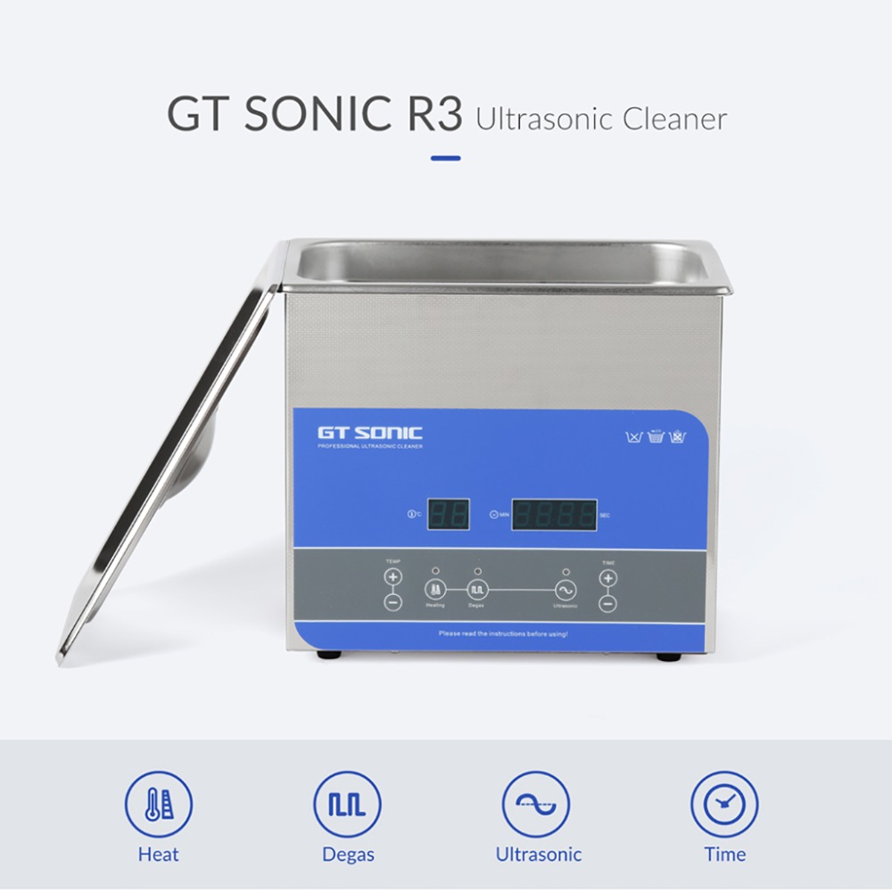 GTSONIC Adjustable Ultrasonic Cleaner Bath For Jewelry Ring And Watches Glasses 17