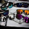 Alta Calidad Cuadrado gafas de Sol Hombres Deportes Reflectantes Gafas de Sol Al Aire Libre Gafas gafas De Sol Gafas De Sol Feminino