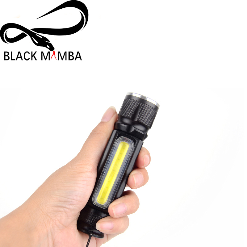 Powerful 5000lm USB Flashlight with Magnet Cob+CREE XM-L T6 LED Torch Rechargeable Inside Battery Waterproof Flash Light Lamp adjustable cree xm l q5 t6 led flashlight zoomable with soft handle magnet flashlight torch rechargeable working