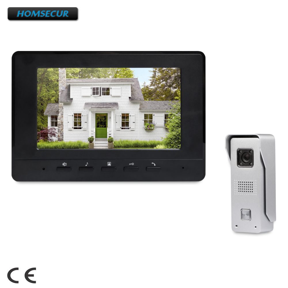 HOMSECUR 7 Video Door Intercom System with Intra-monitor Audio Intercom for House/ Flat  XC002+XM707-BHOMSECUR 7 Video Door Intercom System with Intra-monitor Audio Intercom for House/ Flat  XC002+XM707-B