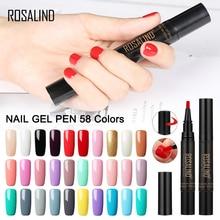 ROSALIND Paint Gel Nail Polish Hybrid Set For Manicure Semi Permanent UV Color Softly Brush Base Top Primer Art 5ml
