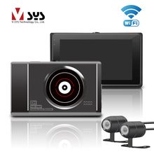 SYS T2 Upgrade M1 WiFi Dual Camera Motorcycle DVR Dash Cam Front 1080P+720P Rear view Motorbike Camera Moto Driving Recorder